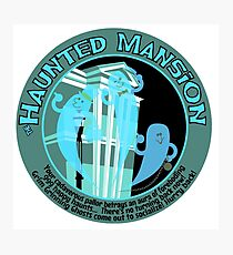 The Haunted Mansion (black and blue) Photographic Print
