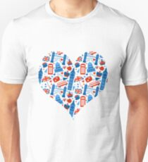 I Love England A Pattern For Anglophiles T-Shirt