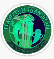 Haunted Mansion (spooky green) Sticker