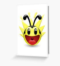 Tarjeta de felicitación Excited Bee