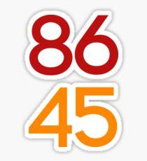86 45 / Remove Trump Sticker