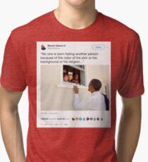 Barack Obama - Most Liked Tweet Ever Tri-blend T-Shirt