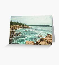 Acadia Coastline - National Park Ocean Greeting Card