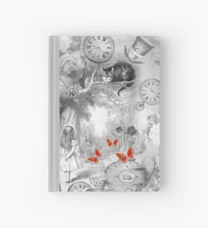 Wonderland en blanco y negro Cuaderno de tapa dura