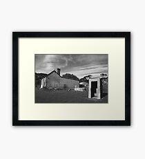Old Australian Dunny (Monochrome) Framed Print