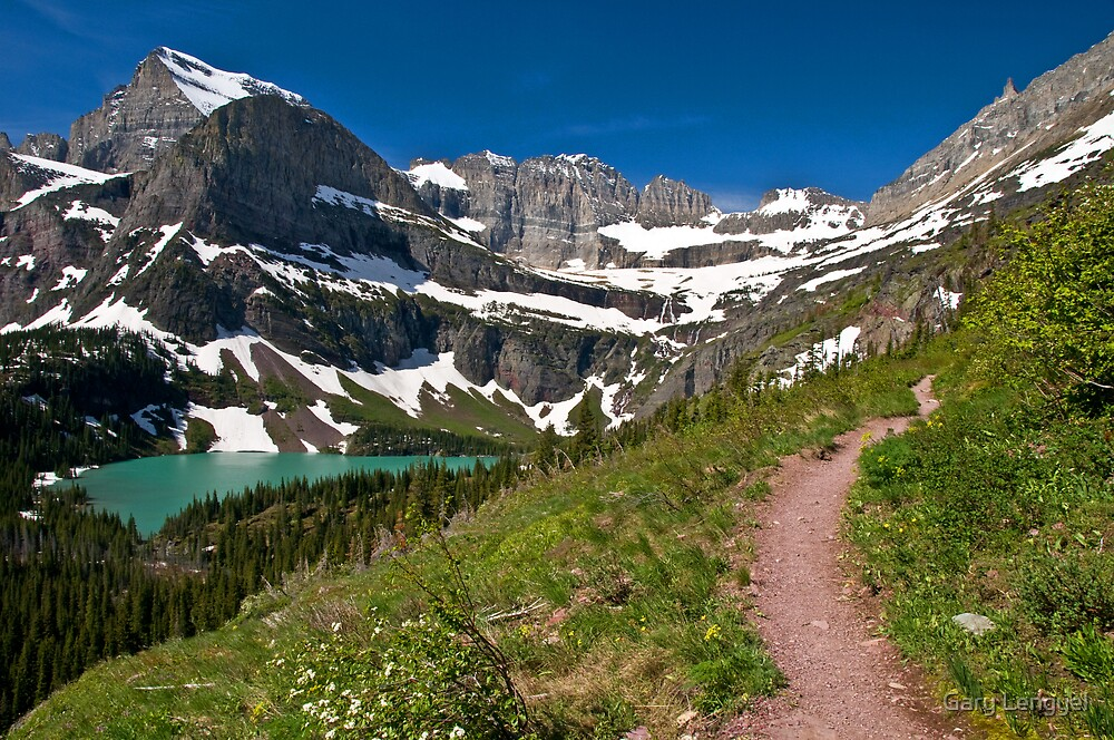 Grinnell Lake, Glacier National Park by Gary Lengyel
