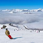 Above the clouds at Cardrona 2 by Charles Kosina