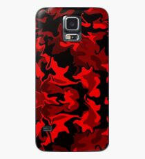 Red Hot Camo Case/Skin for Samsung Galaxy