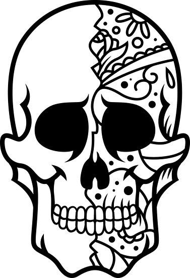 Skull Shirt – Cool Skull T Shirt – Skull Shirts – Sugar Skull Shirt – Skull