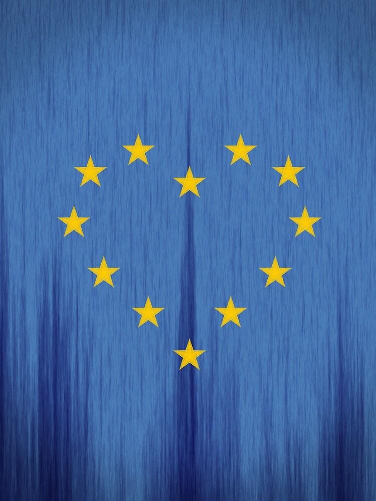 Europe, European Flag Design, Pro-EU Design, Anti-Brexit, heart-shaped, vintage look by XequinoX