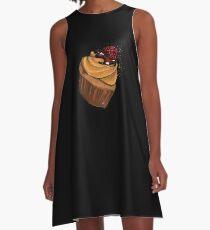 Muffin Himbeere A-Linien Kleid