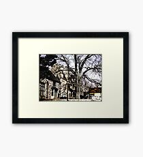 Come to my Castle with poem by Sally Omar Framed Print