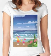 Cocktail on the beach 4 Women's Fitted Scoop T-Shirt