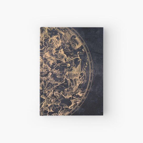 Vintage Constellations and Astrological Signs | Yellowed Ink and Cosmic Colour Hardcover Journal