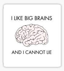 I like big brains and i cannot lie Sticker