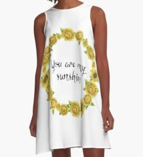 Sunflower - You Are My Sunshine A-Line Dress