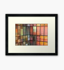 Building reflection Framed Print