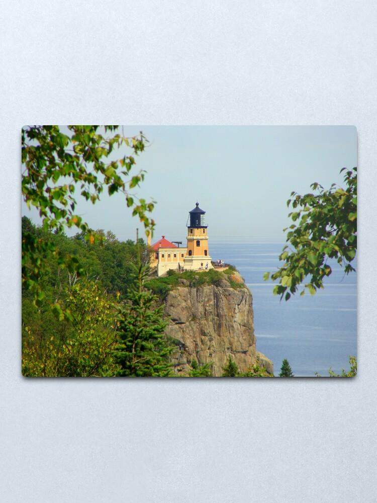 Alternate view of Split Rock Lighthouse Metal Print