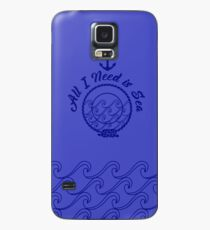 All I Need is Sea - Monochromatic Navy Blue Case/Skin for Samsung Galaxy