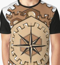 Compass of Cogs Graphic T-Shirt