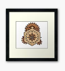 Compass of Cogs Framed Print