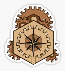 Compass of Cogs Sticker