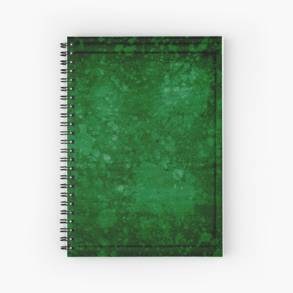 Old green wall with splatter Spiral Notebook