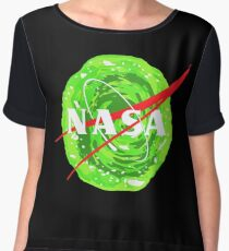 NASA - Rick and morty portal Women's Chiffon Top