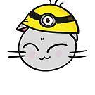 Cute Cat in a Hat by Andreea Butiu