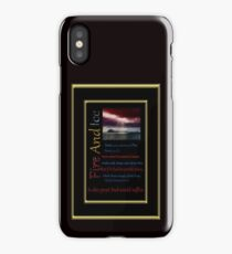 Fire And Ice Water iPhone Case