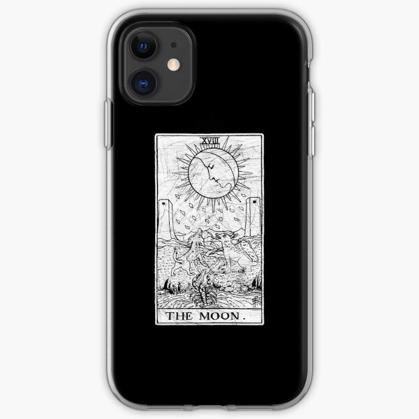 The Moon Tarot Card - Major Arcana - fortune telling - occult iPhone Soft Case