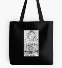 Die Mond Tarot Card - Major Arcana - Wahrsagerei - okkult Tote Bag