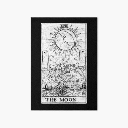 The Moon Tarot Card - Major Arcana - fortune telling - occult Art Board Print