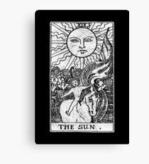 The Sun Tarot Card - Major Arcana - fortune telling - occult Canvas Print