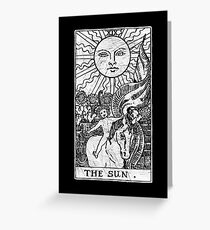 The Sun Tarot Card - Major Arcana - fortune telling - occult Greeting Card