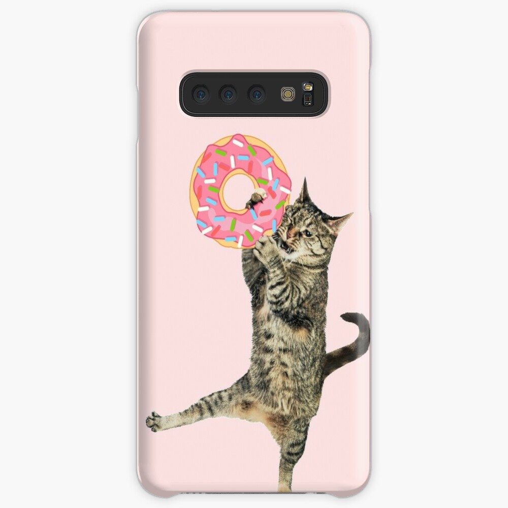 Pink Donut CAT-ch Case & Skin for Samsung Galaxy