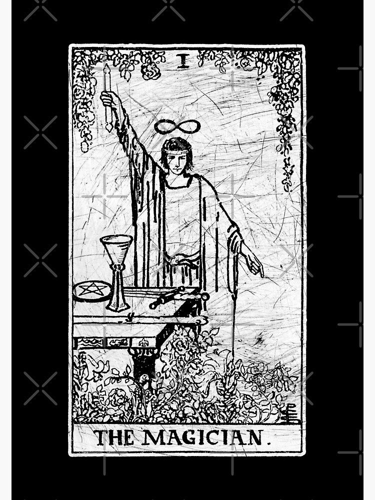The Magician Tarot Card - Major Arcana - fortune telling - occult | Metal  Print