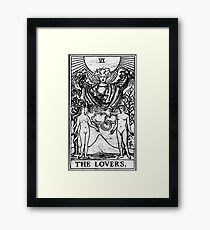 The Lovers Tarot Card - Major Arcana - fortune telling - occult Framed Print
