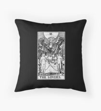 The Lovers Tarot Card - Major Arcana - fortune telling - occult Throw Pillow