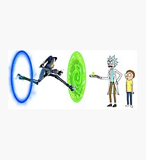 Rick And Morty Portal 2 Photographic Print