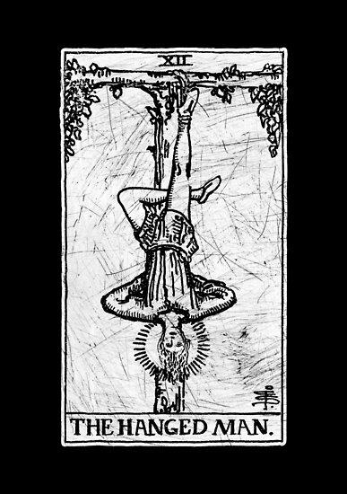 Die gehangene Mann Tarot-Karte - Major Arcana - Wahrsagerei - okkult von createdezign