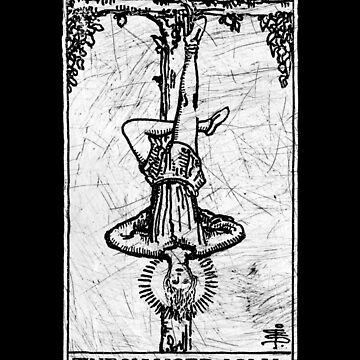 The Hanged Man Tarot Card - Major Arcana - fortune telling - occult by createdezign