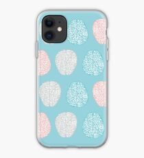 Brainy Pastel Pattern (Awesome Pastel Brains) iPhone Case