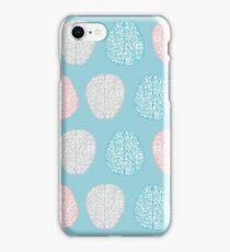 Brainy Pastel Pattern (Awesome Pastel Brains) iPhone Case/Skin