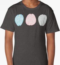 Brainy Pastel Pattern (Awesome Pastel Brains) Long T-Shirt