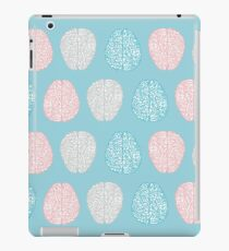 Brainy Pastel Pattern (Awesome Pastel Brains) iPad Case/Skin