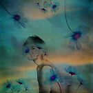 Woman hidden in a world of flowers by VictoriaHerrera