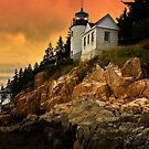 Bass Harbor Head Light- Acadia National Park, Maine by Kathy Weaver