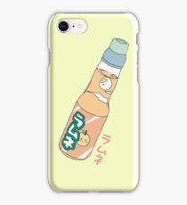 Kawaii Orange Soda Drink (*background color customizable) iPhone Case/Skin