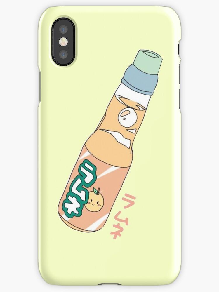 Kawaii Orange Soda Drink (*background color customizable) by PeachPantone